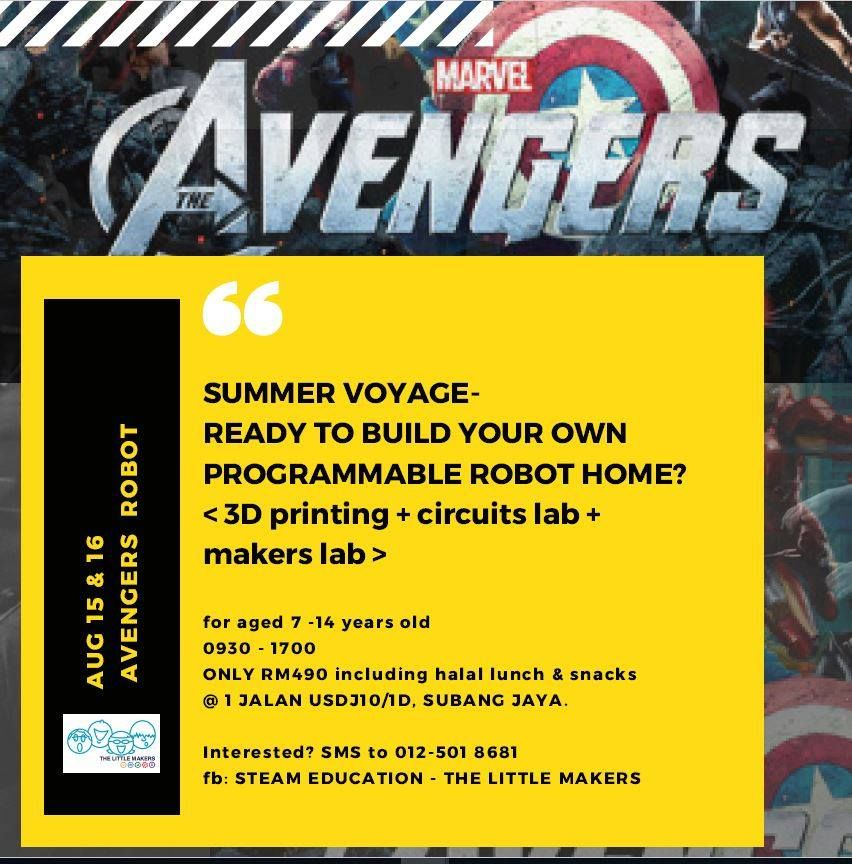 The Little Makers - Summer Voyageready with Avengers Robot